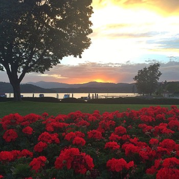 A sunset in Coeur d'Alene, Idaho while Mark and Emily were visiting. These moments are why we love living out west!