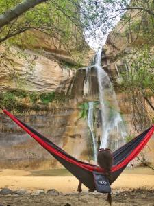 Hammocking at Lower Calf Creek Falls